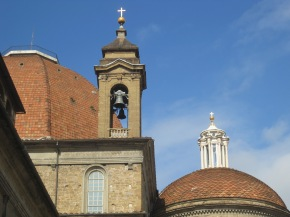 The dome of the San Lorenzo Basilica