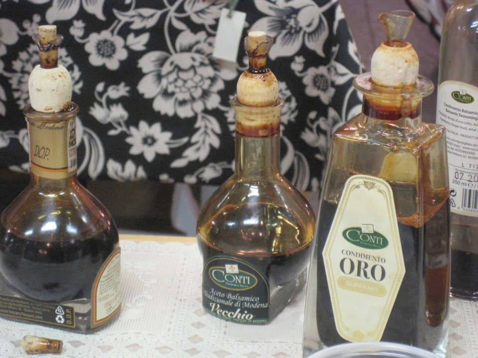 Several aged balsamic vinegars to try