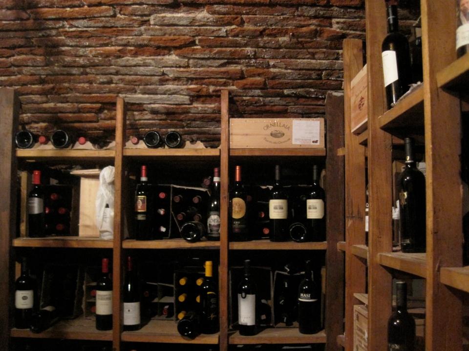 In the cellars at the vinattieri